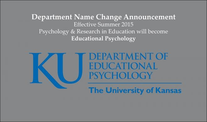 PRE Department Name Change Announcement: EPSY